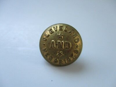 Vintage Grover Cleveland and Thomas Hendricks Button