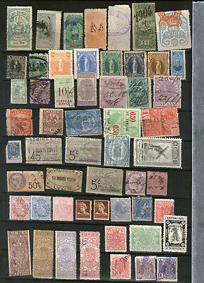 Revenues stamps from several countries of the World