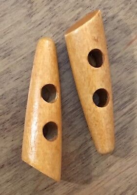 Wooden Toggles 50 MM Tan Colour Wood Pack of 4