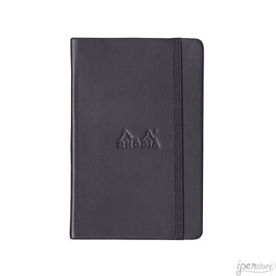 Rhodia #118609 Webnotebook 5-1/2 x 8-1/4, Black Cover, Lined