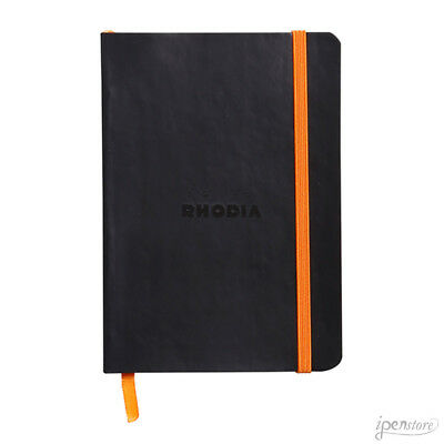 Rhodia Rhodiarama Soft Cover Notebook, A6 (4-1/8 x 5-3/4), Black, Dot Grid