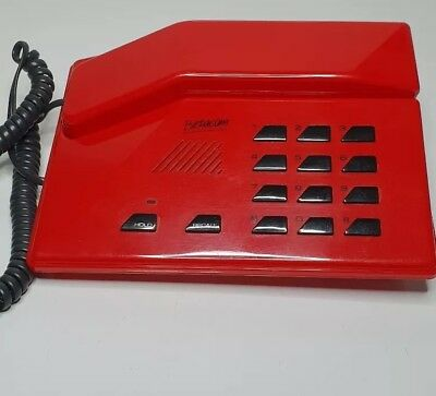 Vintage Retro 1980's Betacom Telephone / Phone Working Rare. Red designer phone