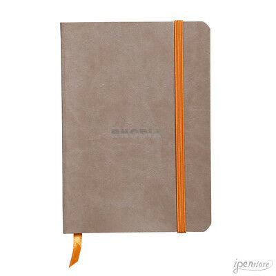 Rhodia Rhodiarama Soft Cover Notebook, A6 (4-1/8 x 5-3/4), Taupe, Dot Grid