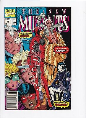 New Mutants #98 KEY 1st Appearance Deadpool Domino & Gideon Liefeld 99 Cent