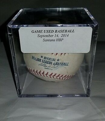 Carlos Santana, Game Used Baseball, Cleveland Indians Hit By Pitch RBI Single !!