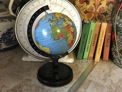 Vintage Reliable Series Tin Plate World Globe Made In England