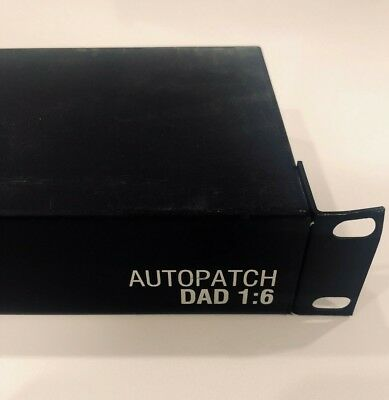 AMX Autopatch DAD 1:6 Channel Video Distribution Amplifier Driver Component Rack