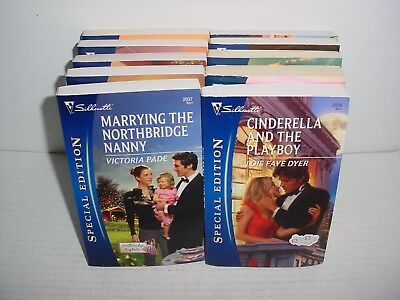 Lot of 10 Silhouette Special Edition Romance Paper Back Books Pb