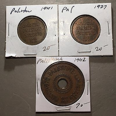 Lot of (3) PALESTINE COINS  NICE COLLECTOR GROUP MIL   #A137 FREE U.S. SHIPPING