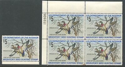 United States Rw41 Mint Single & Plate Block Nh 1975 Duck Stamp