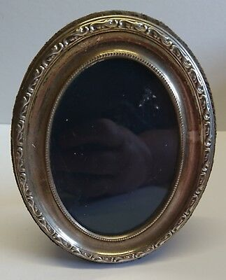 Small Oval Sheffield Silver Hallmarked Photograph Frame