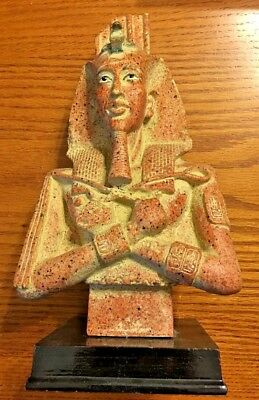 Ancient Egyptian Reproduction Pharaoh Akhenaten Statue Sculpture