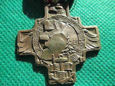 1919 Vintage Antique WWI Army Military Veterans  Bronze Medal New Hampshire