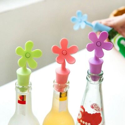 Silicone Bottle Cap Flower Shape Wine Champage Bottle Lid Stopper Seal Cover 1PC