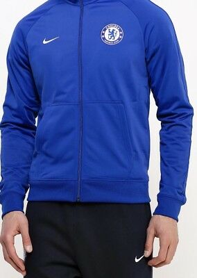Nike FC Chelsea Core Pre Match Jacket Rush Blue UK Medium BNWT 801c1bd95