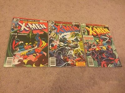 Uncanny X-Men #115, 119, 133 Marvel Bronze Age Comic Lot Key App Wolverine Solo