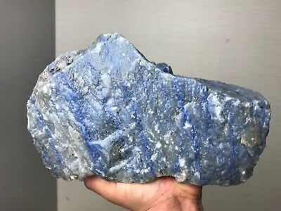 Aaa Top Quality Blue Quartz Rough 13.5 Lbs From Brazil