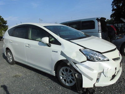2012 White Toyota Prius + /Alpha Damaged Salvage HPI Clear Unrecorded Import
