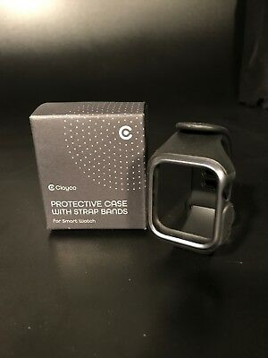 the latest a5411 43fb4 CLAYCO APPLE WATCH 4, 44mm Band Strap Case Protective Cover- Black