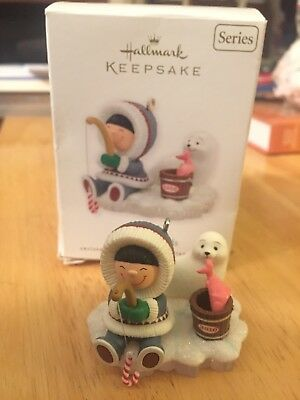 Hallmark Keepsake Ornament 2010 Frosty Friends Eskimo Seal Ice Fishing