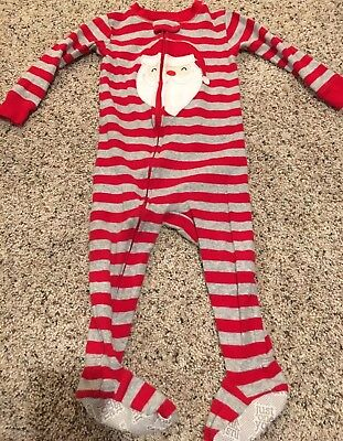 Carter's Boys Christmas Sleeper 12 Months Santa Red One Piece Outfit Pajamas