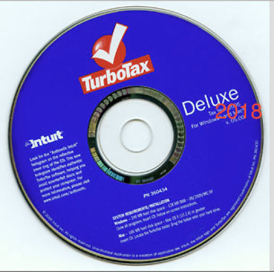 NEW TurboTax Deluxe 2018 Fed + Efile + State PC/MAC Disc
