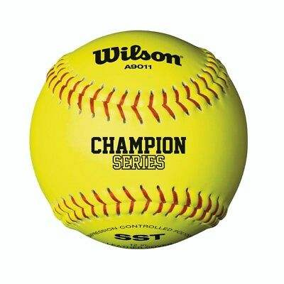 Wilson A9011 12in Optic Yellow Fastpitch Softball 12 Pack