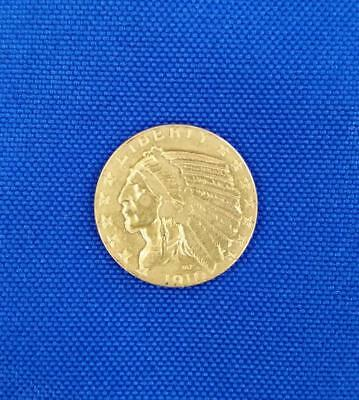 1910 Us $5 Gold Indian Coin          L3426