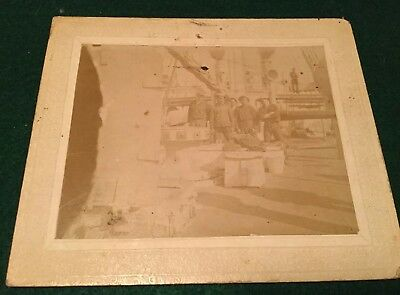 "USS Marblehead C-11 w/ Boston, Mass 1900's Original Photo Photograph 5"" X 6"""