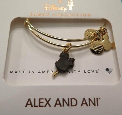 NEW Disney Parks Alex & Ani Mickey Ice Cream Bar Snack Food Gold Bracelet