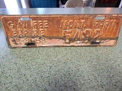 Montana Farm License Plate Expires 12-31-58 -  Have A Look!