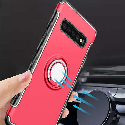 Ring Holder Shockproof Rugged Armor Case For Samsung Galaxy S10+ Plus/S10 /S10e