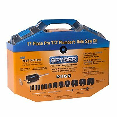 Spyder 600809 Tungsten Carbide Tipped Rapid Core Eject Hole Saw Kit, 17-Piece