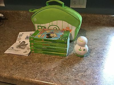 Leap Frog Tag Jr Book Reader Pal, Case and 6 books Ages 2 To 4 Ex Condition