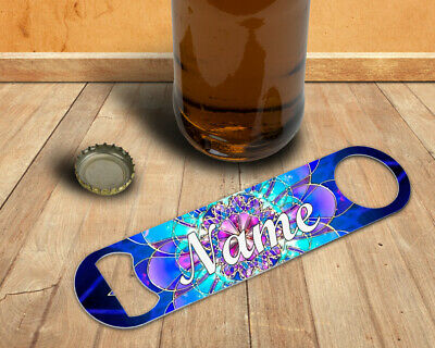 Personalised Mandala Double Sided Beer Bottle Opener Strong Stainless Steel