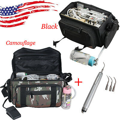 US Outdoor Dental Turbine Unit Bag Air Compressor Suction 3W Syringe Gift Scaler