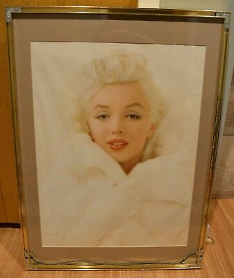 MILTON GREENE MARILYN MONROE 1955  is winsome in white fur RARE PHOTO