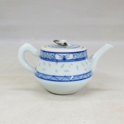 B715: Chinese old blue-and-white porcelain teapot of HOTARU-DE for green tea