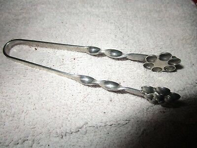 Vintage Sterling Silver Sugar Cube Tongs Hand Made