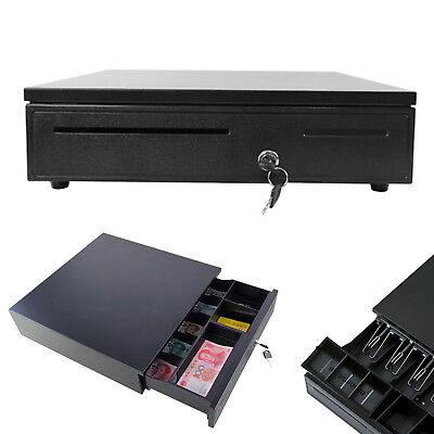 12V/24V Heavy Duty Cash Till Drawer With 5 Bills 5 Coins Tray Removables Insert