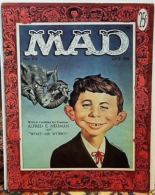 Mad Magazine 30 Nice mid-grade F++ Iconic First Alfred E. Neuman cover! Elvis!