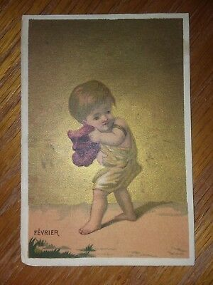 1800's VICTORIAN TRADE CARD, Harry Clifford, Hair Dresser, Belfast Maine