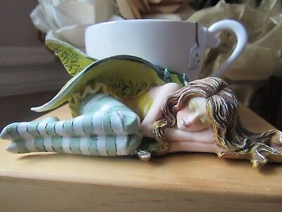 AMY BROWN CHAMOMILE TEA FAIRY FIGURINE by Pacific Giftware NEW IN BOX