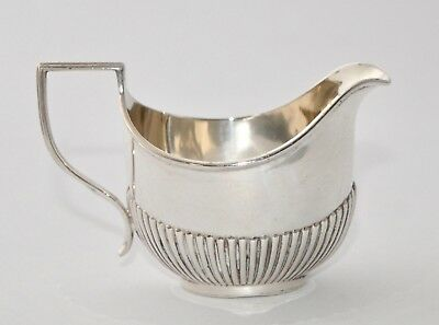 Antique 1906 Solid lSterling Silver Creamer Jug - Half Fluted Henry Matthews 50g