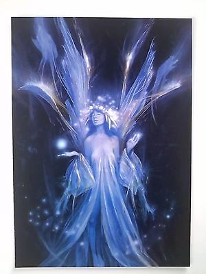 BRIAN FROUD MINT Collectible FAIRY POSTCARD/ART PRINT Blue glowing Faerie RARE!