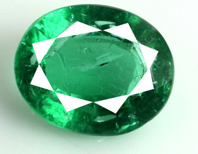 100% Natural Muzo Colombian Emerald Oval Collection 7.20 Ct/14mm Certified E5038