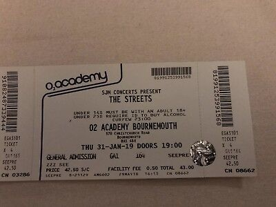 The Streets Tickets O2 Academy Bournemouth - Tickets In Hand