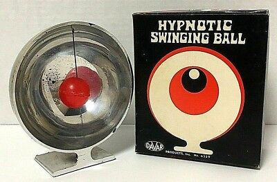 Mid Century Modern Vintage Retro Davar Hypnotic Swinging Ball Eyeball