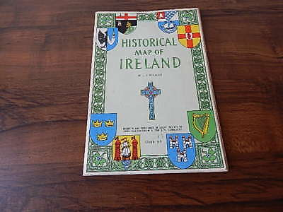 Historical Map Of Ireland By Lg Bullock Cloth Bound International Sale