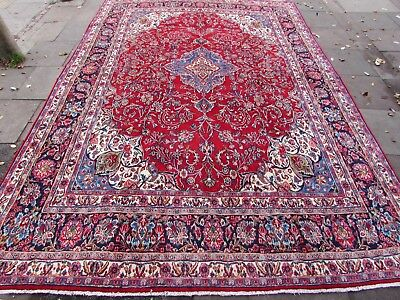 Old Traditional Hand Made Persian Rugs Oriental Wool Red Large Carpet 447x312cm